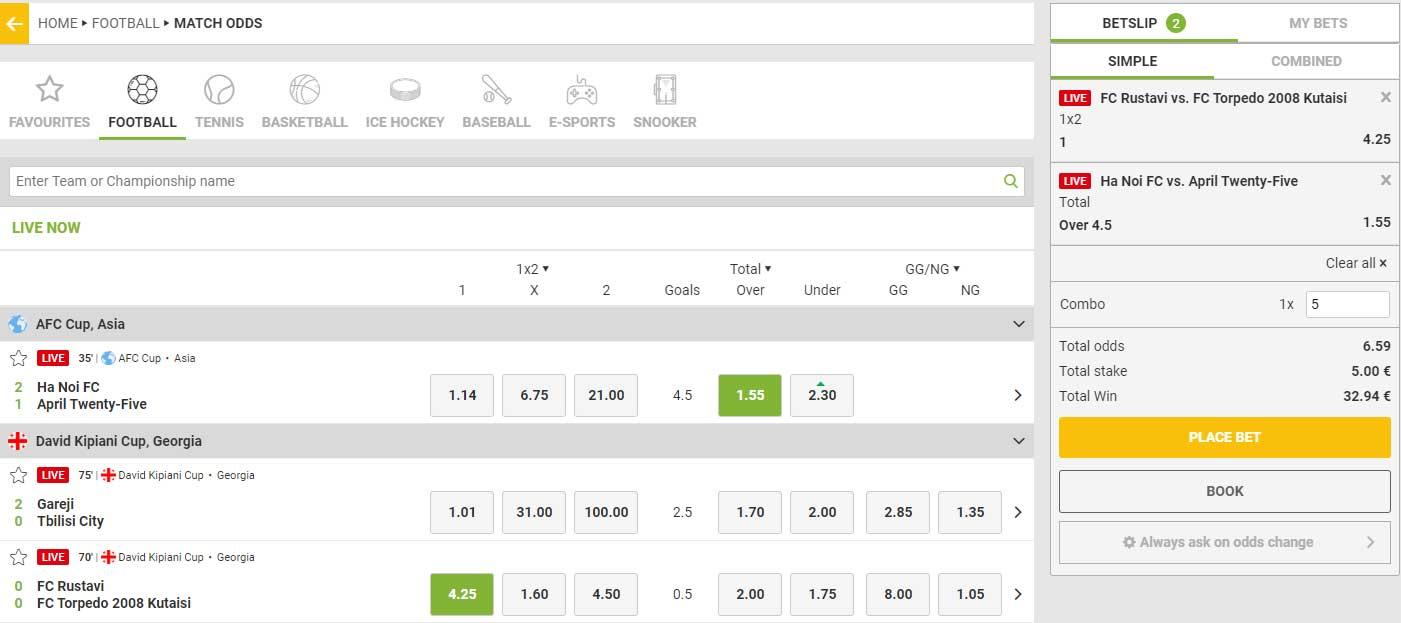 campobet live betting