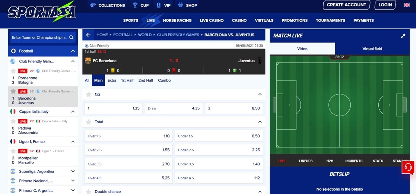 sportaza live betting
